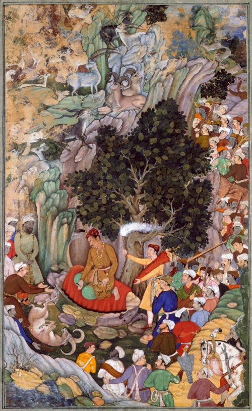 Akbar orders the hunt to cease. Johnson album 8, 4